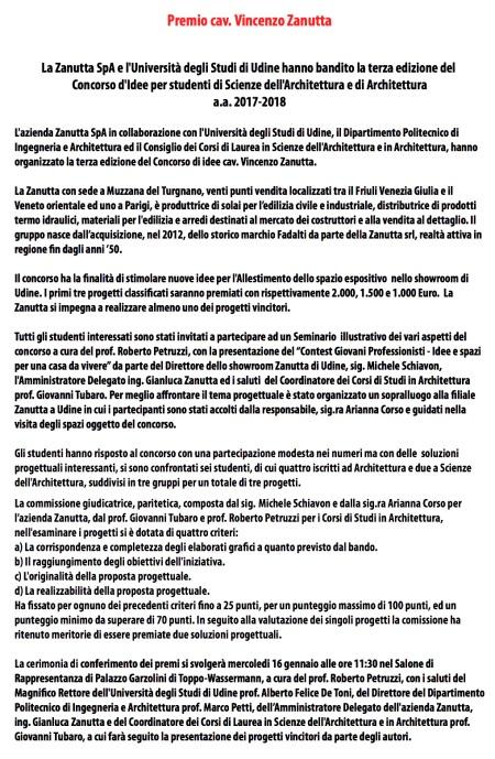 comunicazione press concorso zanutta_prima premiazione